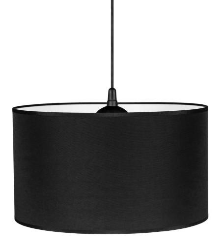 Lampa wisząca sufitowa duży abażur czarna LED