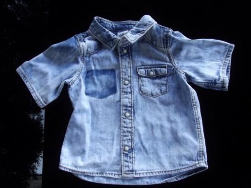 śliczna jeansowa koszula H&M r 68