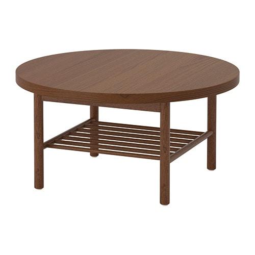 Ikea Listerby Stolik Kawowy Okrągły Brązowy