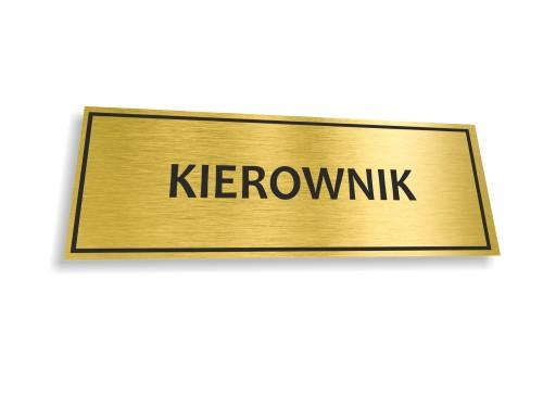 Tabliczka Pcv Napisy Na Drzwi 15x5cm Zlota 7556533647 Allegro Pl