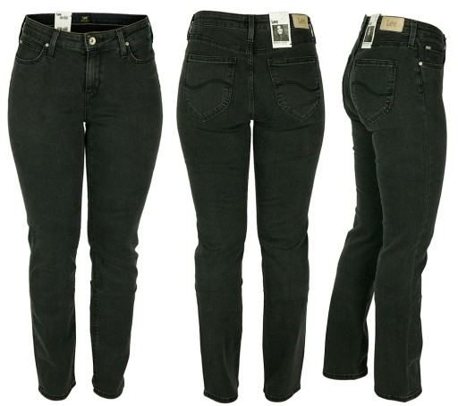 LEE MARION Straight Jeansy Classic Proste W34 L31