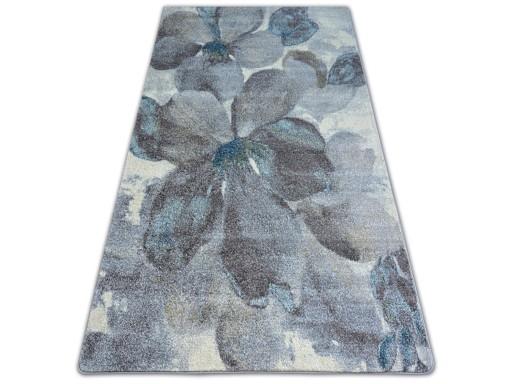 Dywany łuszczów Nordic 240x330 Kwiaty Szary A029