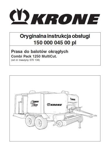 Instrukcja obsługi KRONE Combi Pack 1250 MC