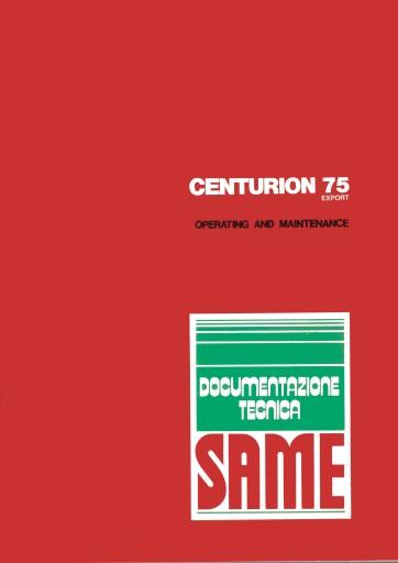 Instrukcja obsługi Same Centurion 75 Export
