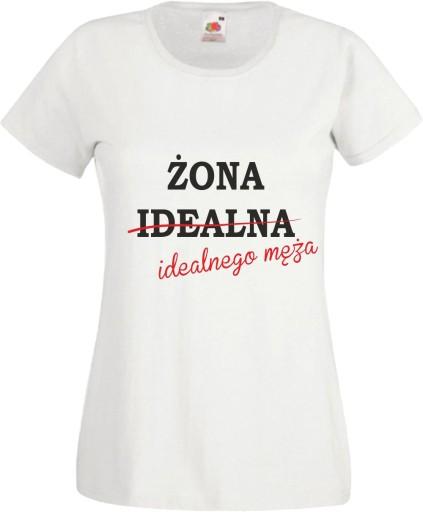 9bbe21b45cc7 koszulki ŻONA idealnego męża koszulka dla par 7258347787 - Allegro.pl