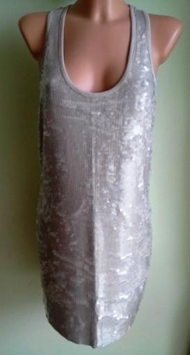 Sukienka ołówkowa cekiny wesele RIVER ISLAND 40