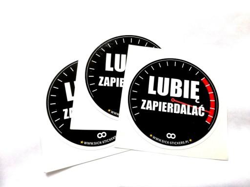LUBIĘ ZAPIERDALAĆ naklejka, naklejki stickery
