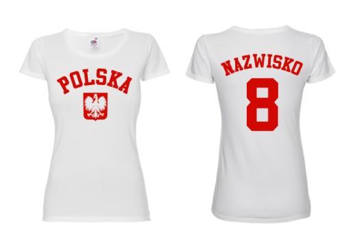 c394bf48e4d1 KOSZULKA KIBICA - REPREZENTACJI POLSKI - DAMSKA -S 7399185969 ...