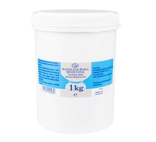 BIAŁA WAZELINA MEDYCZNA (kosmetyczna) 1 kg