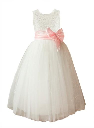 8869eed8 Sukienka tiul długa komunia druhna wesele 86 PL