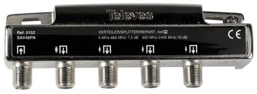 Rozgałęźnik 1/4 Televes Splitter RTV SAT Unicable