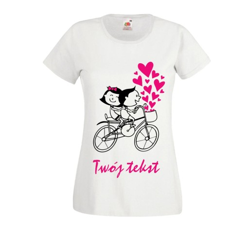 KOSZULKA t shirt dla zakochanych PAR ROWER serca