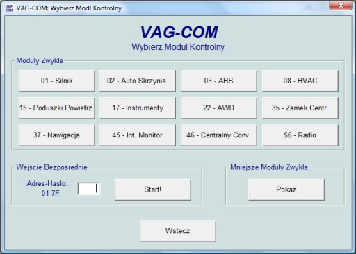 INTERFEJS DIAGNOSTYCZNY VAG USB KKL OBD2 OBD1+piny