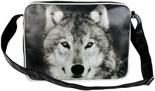 5ad9d73a29613 Torba Szkolna Młodzieżowa Nadruk Wilk Wolf 5951481021 - Allegro.pl