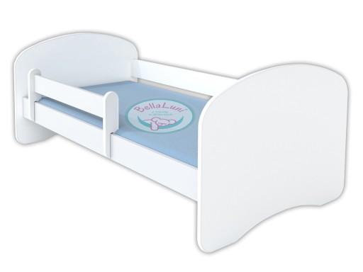 Białe łóżko dziecięce HAPPY 140x70 z materacem