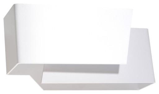 Geometryczna Lampa na Ścianę KINKIET PIEGARE BIAŁY