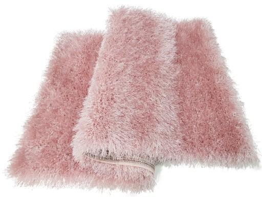Dywan Glossy Gloria Różowy Lurex Shaggy 60x100
