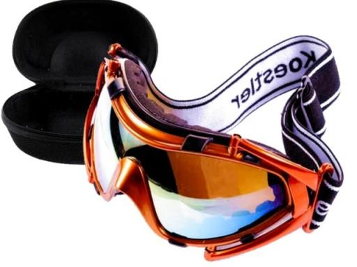 ODCHYLANE GOGLE NARTY SNOWBOARD NARCIARSKIE+ETUI