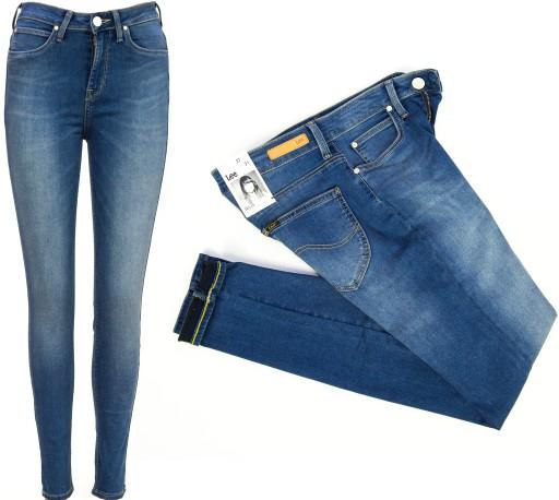 Lee SKYLER Blue Fog spodnie jeansy Jeggins W27 L31