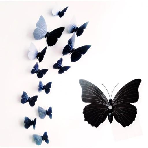 Naklejki Na ścianę Motyle 3d Motylki Magnes Motyl