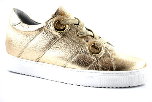 5fe1d632 BADURA 6324 półbuty sneakersy damskie złote R.38 7163398489 - Allegro.pl