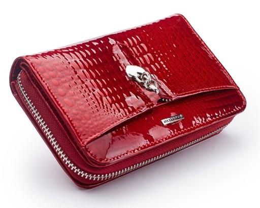 b09eeb87d1d66 Skórzany portfel damski Zagatto ochrona kart RFID 6984757620 ...