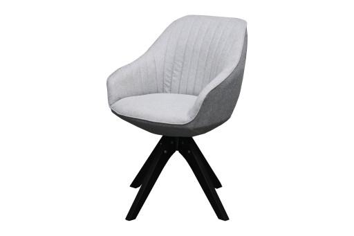 Krzesło Obrotowe Fotel Szary Tkanina Popiel Retro