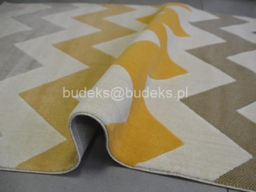 Dywan Canvas 160x230 Zygzak żółty Scandinavia Hit