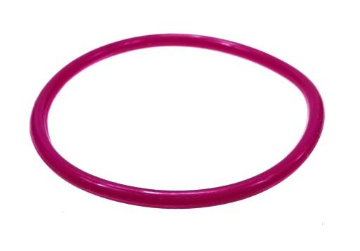 B429-7 Bransoletka bangle kolor różowo fioletowy