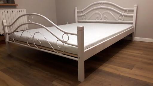 Nowość łóżko Metalowe 100x200 Białe I Czarne