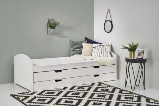 Młodzieżowe łóżko Laguna 2 Białe 209x96