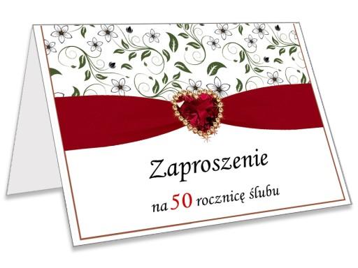 Zaproszenia Zaproszenie Na 25 40 50 Rocznicę ślubu 7033161120