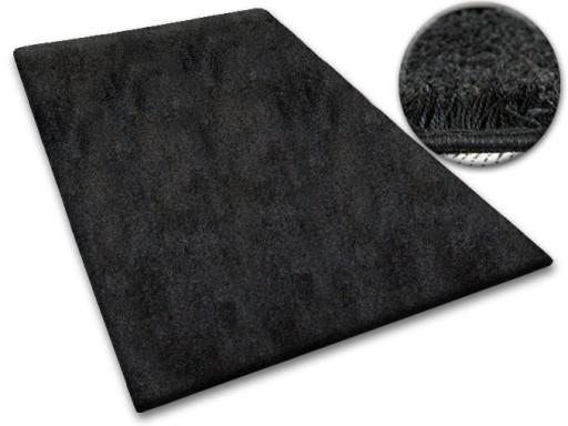 DYWAN SHAGGY 60x145 czarny 5cm jednolity miękki
