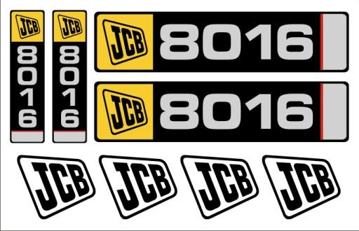 LIPDUKAI LIPDUKAI minikoparka JCB 8016 + piktogramy