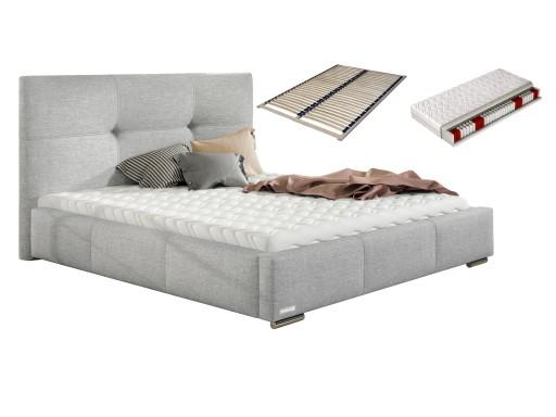 łóżko 140x200 Lily łoże Małżeńskie Stelaż Materac