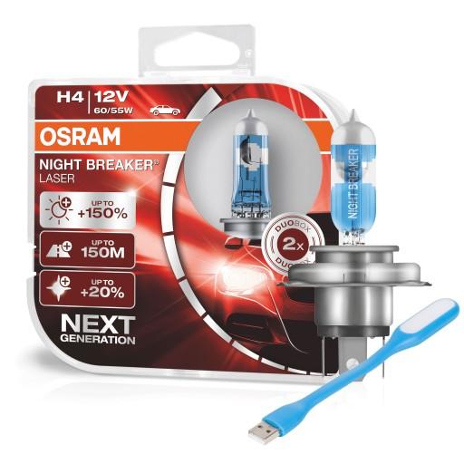 OSRAM Żarówki H4 Night Breaker Laser +150% Next