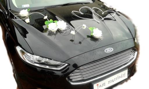 7c607451f0 Dekoracja samochodu ozdoby na auto do ślubu kwiaty 6724684903 ...