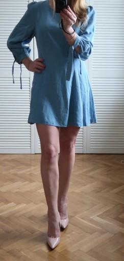 zara sukienki dżinsowe damskie allegro