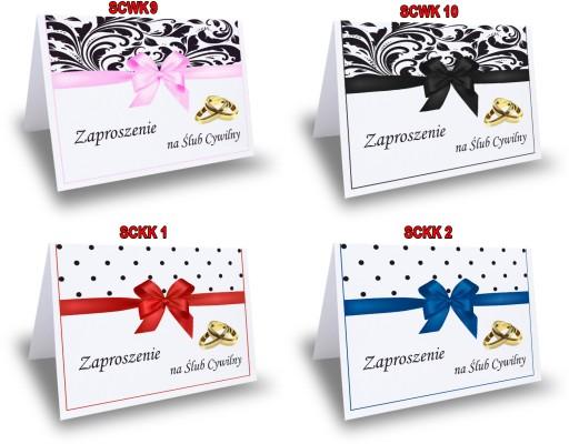 Zaproszenie Zaproszenia Na ślub Cywilny 7077891379 Allegropl