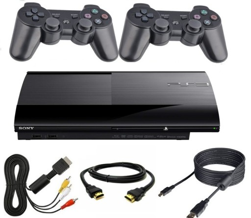 PLAYSTATION 3 PS3 500GB + 2 NOWE PADY +OKABLOWANIE