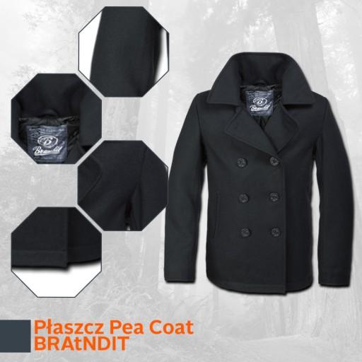 BRANDIT Duży Płaszcz Męski Bosmanka Pea Coat 4XL