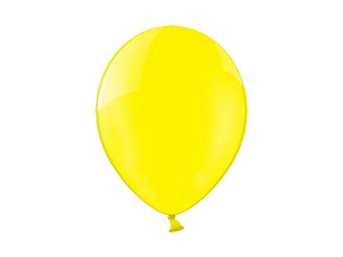 Balony KRYSTALICZNE CRYSTAL Żółte 25 szt.