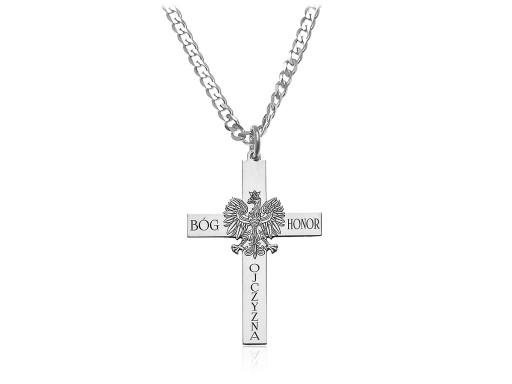 Krzyz Bog Honor Ojczyzna Lancuszek Grawer Srebro 6809751414 Allegro Pl