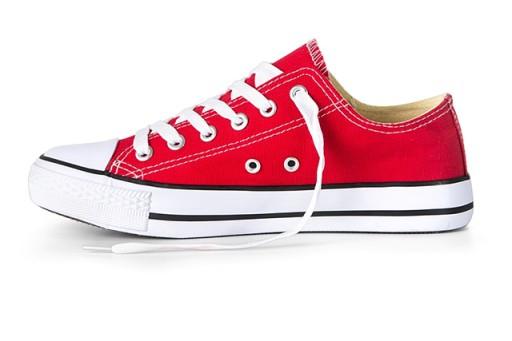 Buty sportowe TRAMPKI męskie Tenisówki Czerwone 45