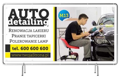 Solidny Baner reklamowy 3x1m AutoDetailing Reklama
