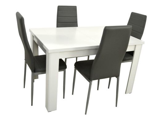 4 Krzesła I Stół 80x120 Do Kuchni Jadalni Laminat