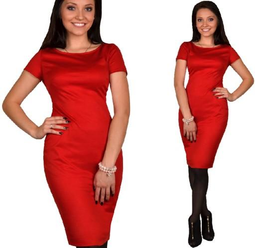 UNIWERSALNA sukienka 38 czerwona  Chcesz Dłuższą ?