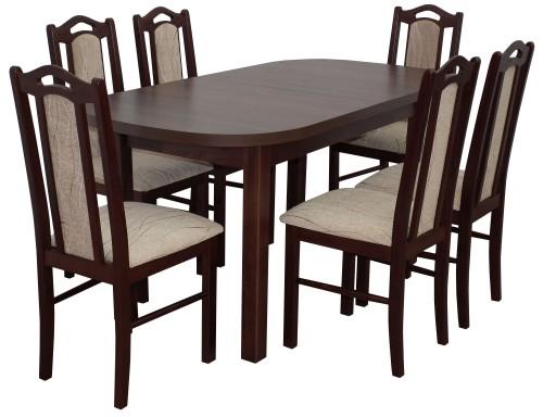 Klasyczne Krzesła Owalny Stół Zestaw Pokojowy