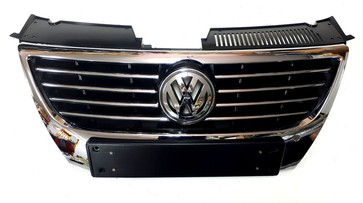 решетка grill + логотип vw passat b6 хром 3c0853651ak