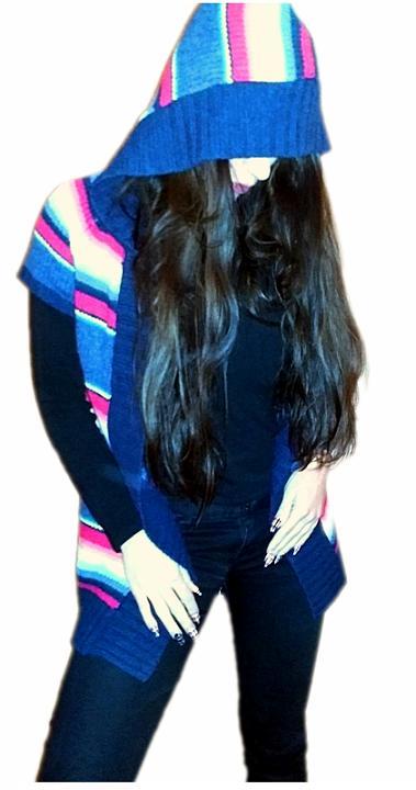 H&M LOGG KOLOROWA WEŁNA WOOL WELNIANA NARZUTKA 5794979754 Odzież Damska Swetry VE